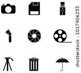 photographic equipment icon set   Shutterstock .eps vector #1017406255