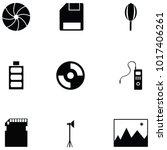 photographic equipment icon set   Shutterstock .eps vector #1017406261