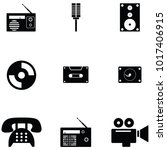 old technology icon set | Shutterstock .eps vector #1017406915