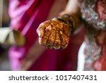 indian bride hands | Shutterstock . vector #1017407431
