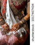 indian bride hands | Shutterstock . vector #1017407434