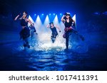 performance on the water of a... | Shutterstock . vector #1017411391