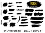 set of black paint  ink  grunge ... | Shutterstock .eps vector #1017415915