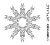 round ornament. calligraphic... | Shutterstock .eps vector #1017416137