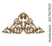 classical baroque vector of... | Shutterstock .eps vector #1017417019