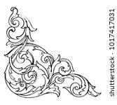 classical baroque vector of... | Shutterstock .eps vector #1017417031