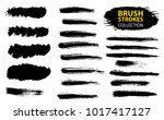 set of black paint  ink  grunge ... | Shutterstock .eps vector #1017417127