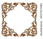 classical baroque vector of... | Shutterstock .eps vector #1017417481