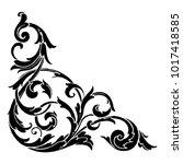classical baroque vector of... | Shutterstock .eps vector #1017418585