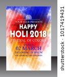 holi  indian festival  | Shutterstock .eps vector #1017419431