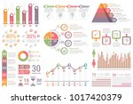 infographic elements   bar and... | Shutterstock .eps vector #1017420379