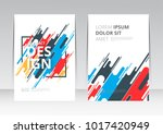 vector abstract design cover... | Shutterstock .eps vector #1017420949