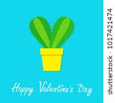 happy valentines day. cactus... | Shutterstock .eps vector #1017421474