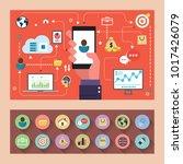 market analysis. business graph | Shutterstock .eps vector #1017426079