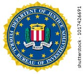 the seal of the federal bureau... | Shutterstock . vector #1017426691