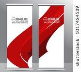 roll up business brochure flyer ...   Shutterstock .eps vector #1017434539
