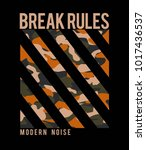 break rules slogan graphic... | Shutterstock .eps vector #1017436537
