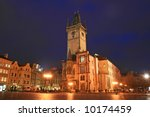 The Old Town Square At Night In ...