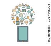 app development concept.... | Shutterstock .eps vector #1017446005