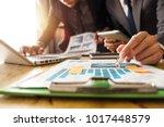 business team meeting. photo...   Shutterstock . vector #1017448579