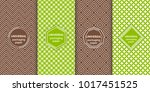 set of colourful seamless... | Shutterstock .eps vector #1017451525