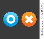 o and x round shape icons with... | Shutterstock .eps vector #1017452701