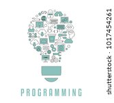 coding and programming concept. ... | Shutterstock .eps vector #1017454261