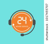 24 hour service icon. call... | Shutterstock .eps vector #1017455707