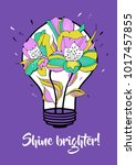 shine brighter. vector... | Shutterstock .eps vector #1017457855