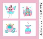toys for little princesses. set ... | Shutterstock .eps vector #1017458215