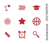 education flat color icon set | Shutterstock .eps vector #1017465919