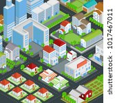 graphic city building  real... | Shutterstock .eps vector #1017467011