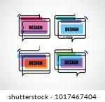 flat linear frame | Shutterstock .eps vector #1017467404