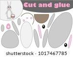 easter bunny  education paper... | Shutterstock .eps vector #1017467785