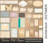 vector large scrapbooking set... | Shutterstock .eps vector #101746834