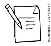 notepad  web vector icon  pen... | Shutterstock .eps vector #1017475864