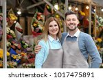 business owner near their store ... | Shutterstock . vector #1017475891