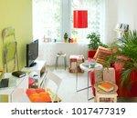 modern green details home... | Shutterstock . vector #1017477319