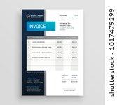 modern invoice template vector... | Shutterstock .eps vector #1017479299