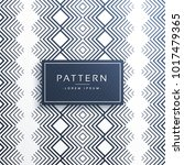 aztec line pattern vector design | Shutterstock .eps vector #1017479365