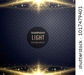 shiny sparkles light effect... | Shutterstock .eps vector #1017479401