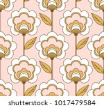 Stock vector seamless retro floral pattern 1017479584