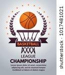 retro basketball poster for...   Shutterstock .eps vector #1017481021