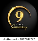 9 years anniversary celebration.... | Shutterstock .eps vector #1017489277