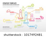vector business strategy... | Shutterstock .eps vector #1017492481