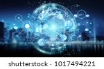 connections system sphere... | Shutterstock . vector #1017494221