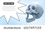 low poly skull with speech... | Shutterstock .eps vector #1017497155