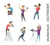 photographers make photos. set... | Shutterstock .eps vector #1017500305