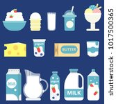 illustrations of milk products. ... | Shutterstock .eps vector #1017500365
