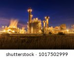 electric power plant with... | Shutterstock . vector #1017502999